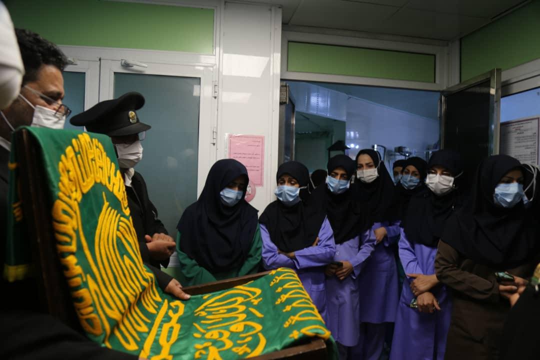 حضور خادمین امام رضا در بیمارستان شهید صدوقی